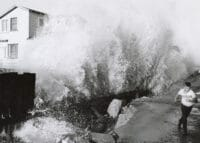 Water flood in long beach historical photo