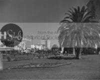 Long beach park black and white photograph