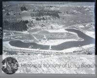 historical aerial photograph of long beach vintage