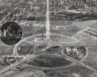 Long beach roundabout circle aerial photograph