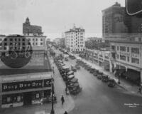 Busy Bee Drug Co long beach street vintage photograph